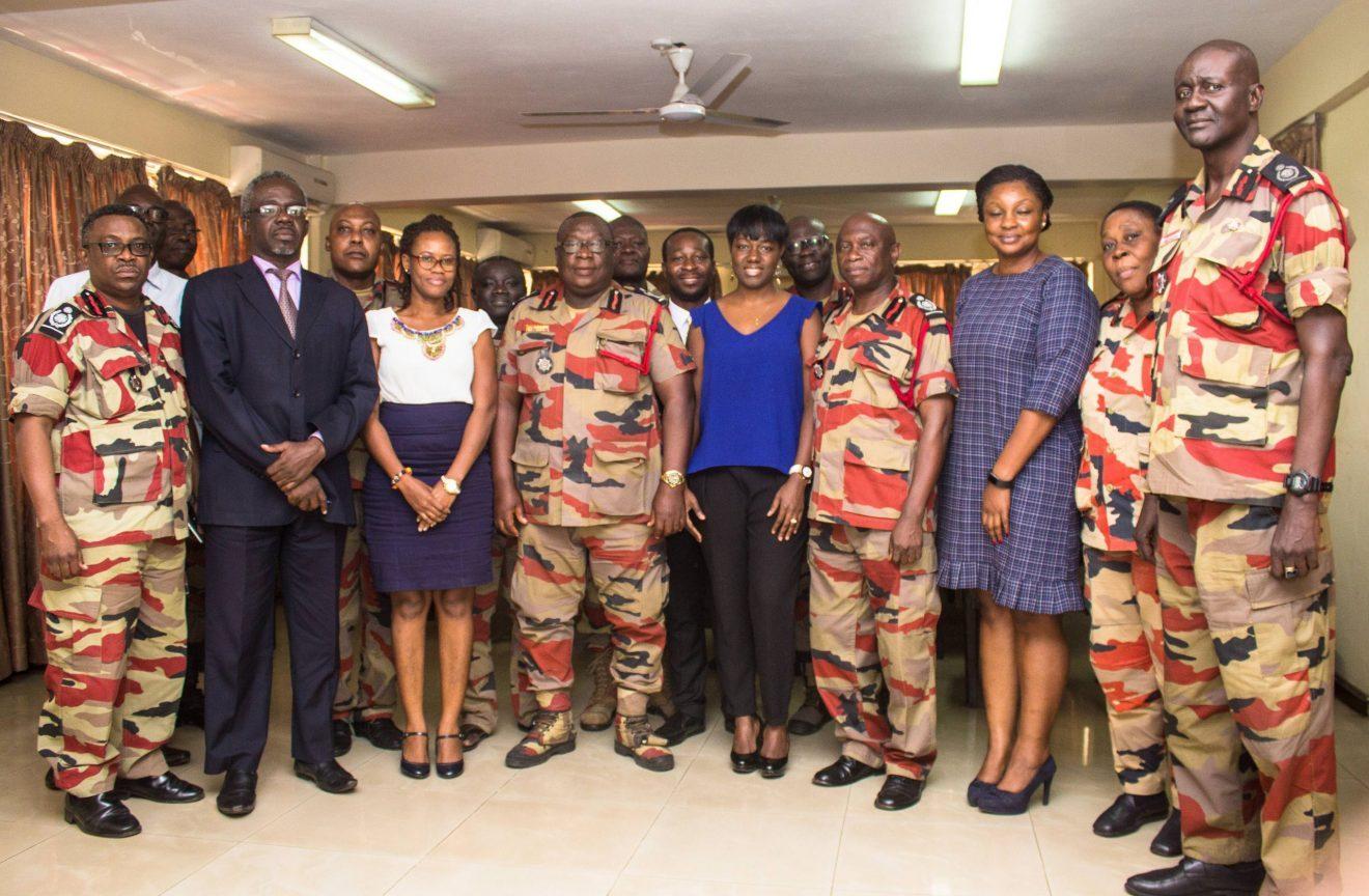 NIA Pays Courtesy Call on Ghana National Fire Service – Accra, Ghana 8th August, 2017