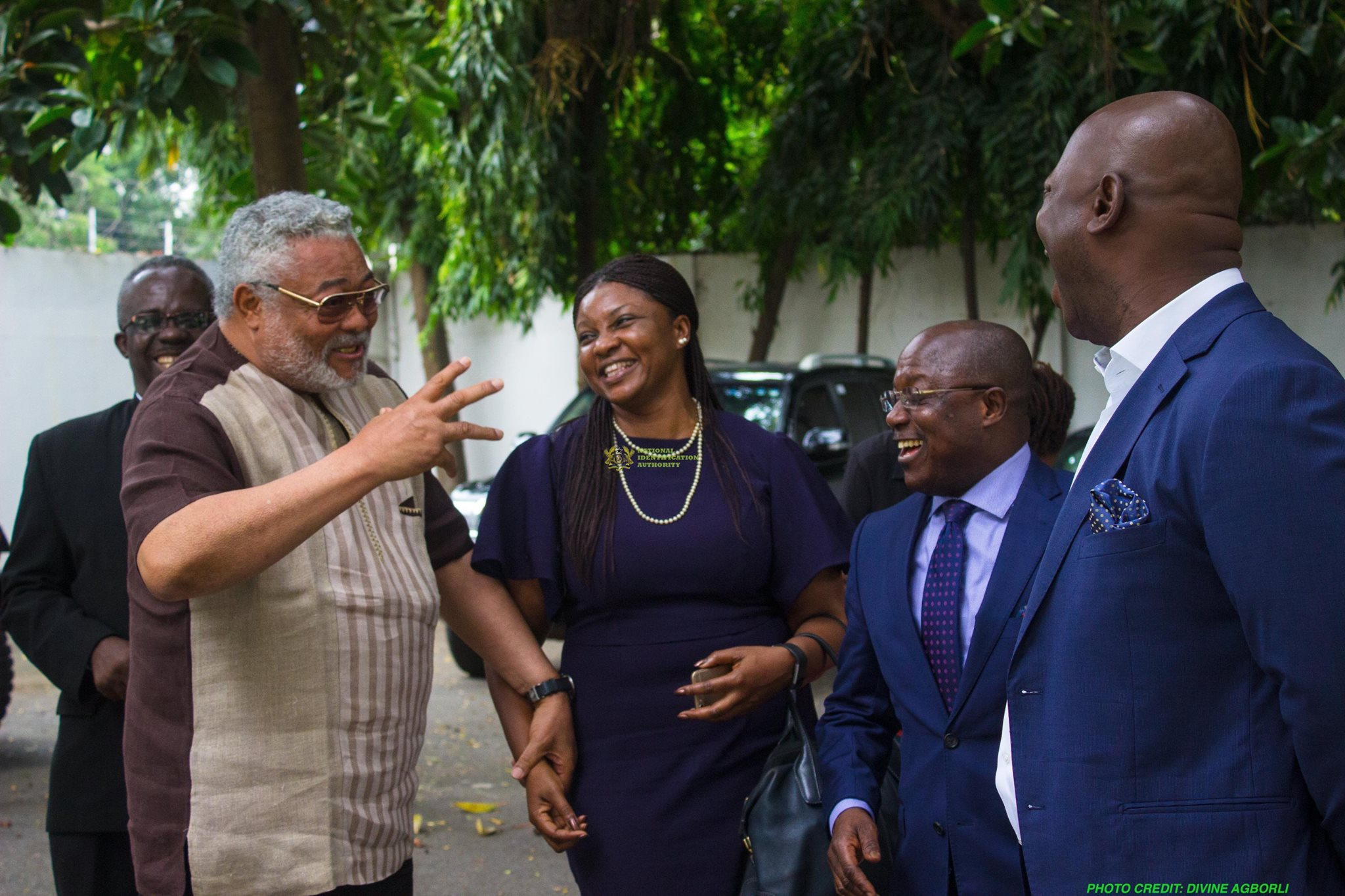 NIA Pays Courtesy call on Ex President Rawlings — Accra, Ghana. 8th August, 2017