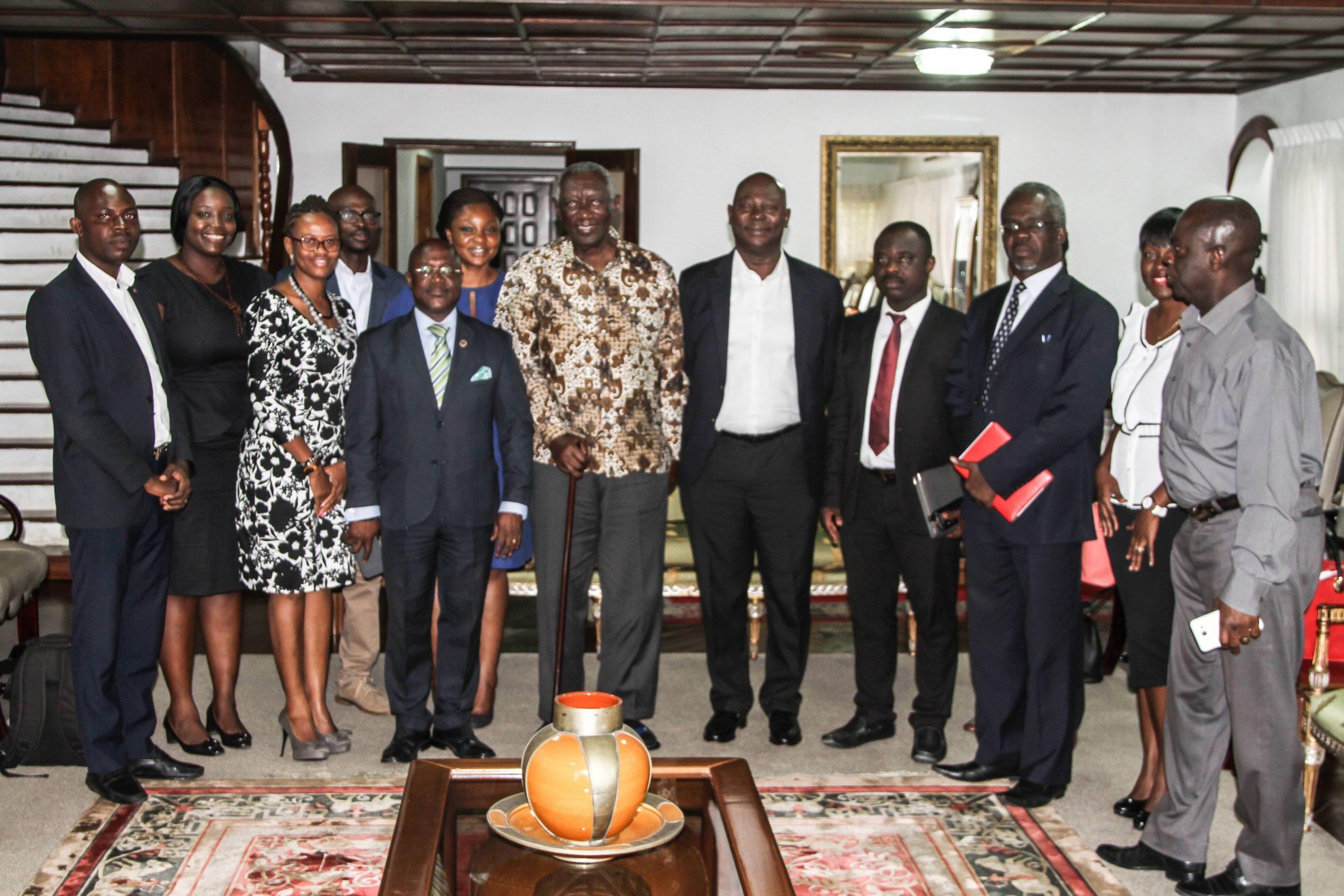 NIA Pays Courtesy Call on Ex President John Agyekum Kuffour 8th August, 2017
